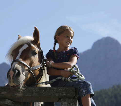 Horse riding for children, familiy holiday in South Tyrol
