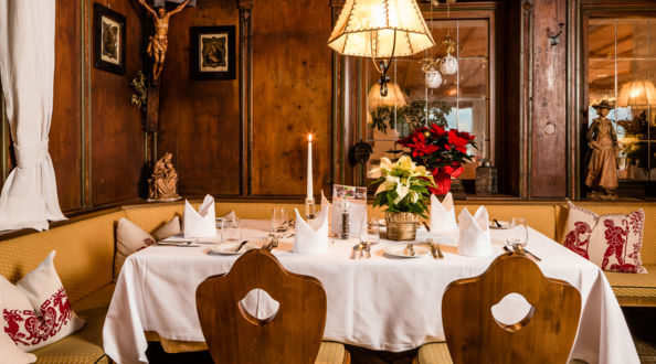 Restaurant im Hotel Post Tolderhof in Olang.