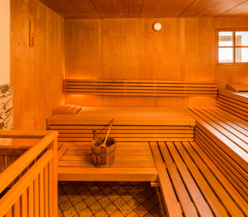 Sauna im Hotel Post Tolderhof in Olang.