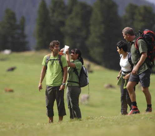 Hiking summer, holiday in South Tyrol, Italy